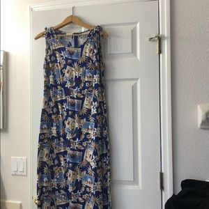 Vintage Disney tropical Mickey sundress